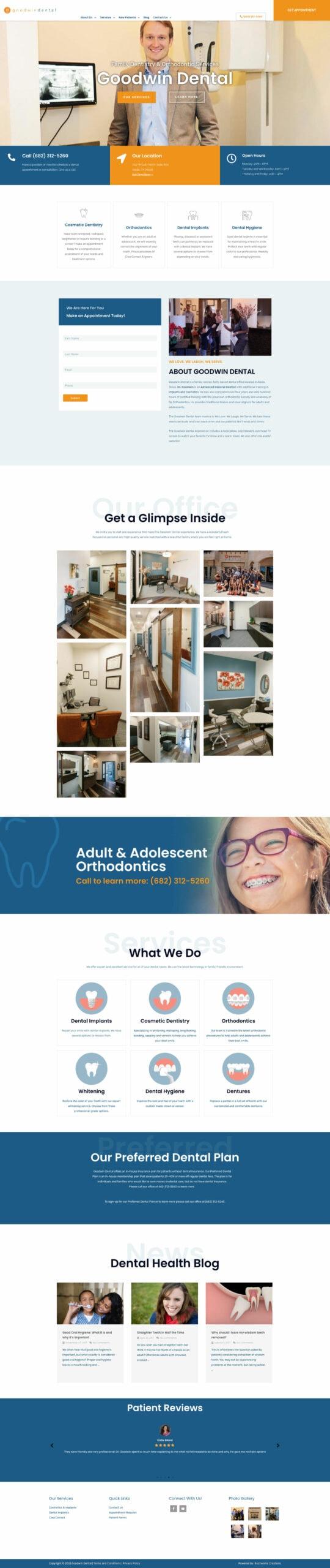 Goodwin-Dental-Website-homepage
