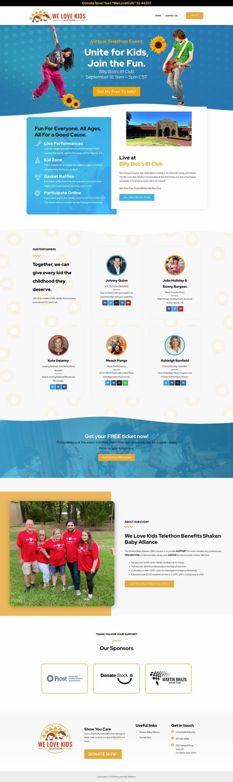 WeLoveKidsTelethon-Homepage-website